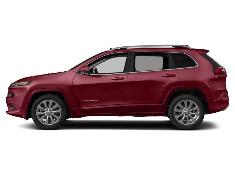 2016 Jeep Cherokee Overland Deep Cherry Red Crystal Pearl  Shot 3